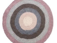 Heklet gulvteppe - Pastel lilac