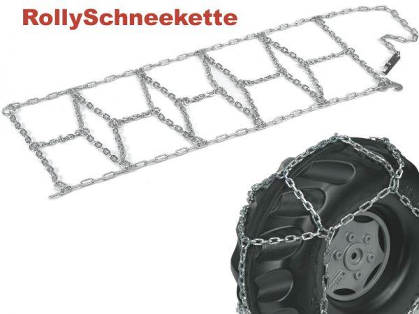 Kjetting vises montert på et plasthjul - alle traktorer som kan velges i pakken har gummihjul