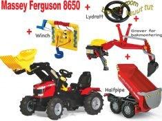 Tråtraktor Rolly Farmtrack Massey Ferguson 8650 traktor