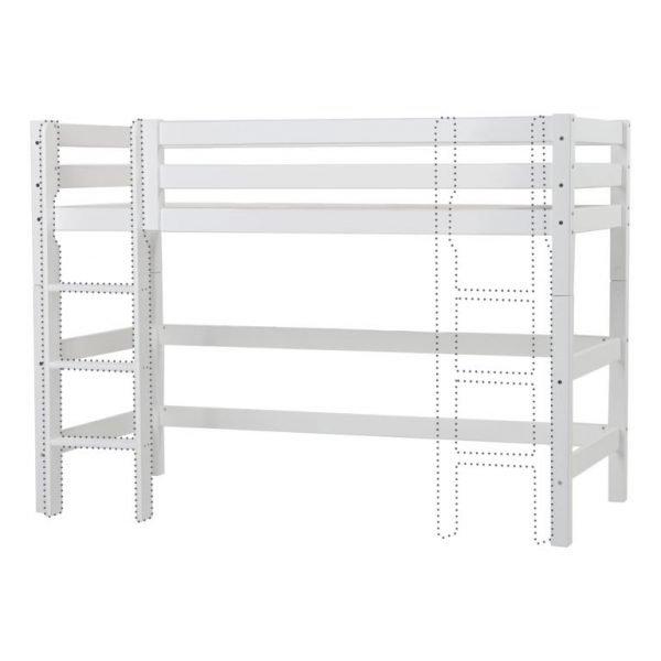 Hoppekids Premium Mellomhøy Seng m/rett stige - 90x200 cm