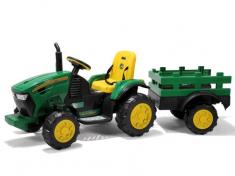 elektrisk traktor med tilhenger