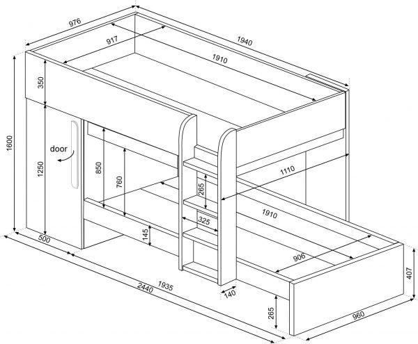 1076 bunk bed trasman
